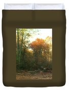 A Woodcutter At Work Duvet Cover