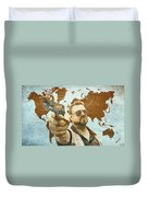 A World Of Pain Duvet Cover by Filippo B