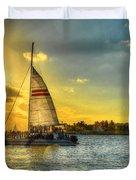 A Yacht Of Fun Duvet Cover