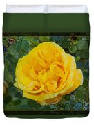 A Yellow Rose Abstract Painting Duvet Cover