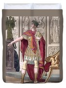 A Young Emperor In His Imperial Armour Duvet Cover