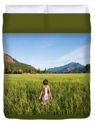 A Young Girl, Daughter Of A Farmer Duvet Cover