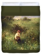 A Young Girl In A Field Duvet Cover