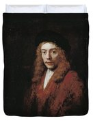 A Young Man Perhaps The Artist's Son Titus Duvet Cover