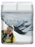 A Young Woman Radios Duvet Cover