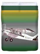 A1a Husky Aviat Airplane Duvet Cover