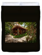 Aaramu Spa Hideaway In Tropical Garden. Maldives Duvet Cover