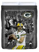 Aaron Rodgers Packers Duvet Cover