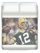 Aaron Rodgers Quotes Mosaic Duvet Cover