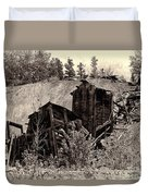 Abandon Montana Mine Duvet Cover