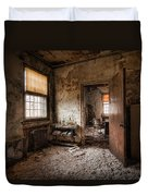Abandoned Asylum - Haunting Images - What Once Was Duvet Cover by Gary Heller