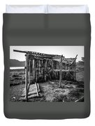 Abandoned Bird Observatory-bw Duvet Cover by Fabio Giannini