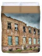 Abandoned Brick Building Duvet Cover