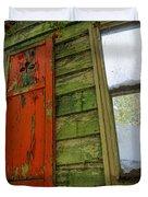 Abandoned Cabin Elkmont - Coming Down Clover Duvet Cover