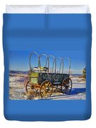 Abandoned Covered Wagon Duvet Cover