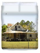 Old Abandoned Cracker Home Duvet Cover