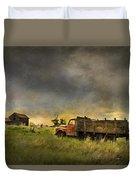 Abandoned Farm Truck Duvet Cover