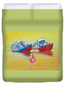 Abandoned Fishing Boats Tavira Duvet Cover
