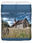 Abandoned Grave In The Churchyard Duvet Cover
