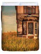 Abandoned House In Grass Duvet Cover