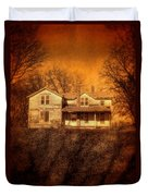 Abandoned House Sunset Duvet Cover by Jill Battaglia