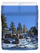 Abandoned On The Mountain Duvet Cover
