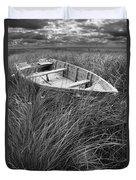 Abandoned Row Boat Along The Shoreline On Prince Edward Island Duvet Cover