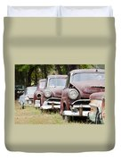 Abandoned Rusted Cars Duvet Cover