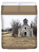 Abandoned Schoolhouse Duvet Cover