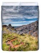 Abandoned Slate Quarry Duvet Cover