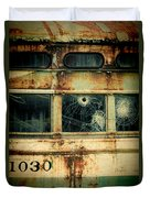 Abandoned Train Car Duvet Cover