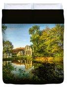 Abbey Lake Autumn Duvet Cover