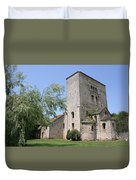 Abbey Ruin - Burgundy Duvet Cover