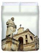 Abbey Statues Duvet Cover