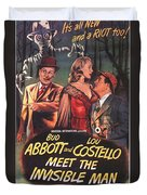 Abbott And Costello Meet The Invisible Man  Duvet Cover