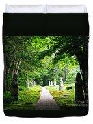 Abby Aldrich Rockefeller Path Statuary Duvet Cover