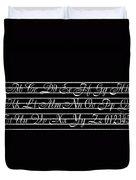 Abc 123 Black Duvet Cover