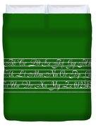Abc 123 Green Duvet Cover
