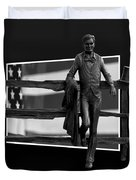 Abe Lincoln In Black And White Duvet Cover