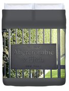 Abercrombie And Fitch Store In Paris France Duvet Cover
