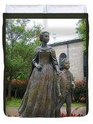 Abigail Adams Statue Duvet Cover