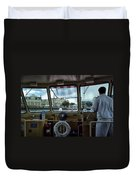 Aboard Friendship And Approaching The Boardwalk At Walt Disney World Duvet Cover