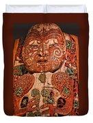 Aborigine Carved Figure Duvet Cover