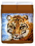About 400 Sumatran Tigers Duvet Cover by Charlie Baird