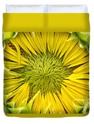 About To Be A Sunflower Duvet Cover
