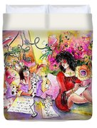 About Women And Girls 16 Duvet Cover