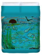 Above And Beneath The Sea Duvet Cover