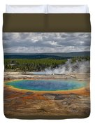 Above Grand Prismatic Duvet Cover