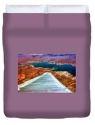 Above Lake Mead By Diana Sainz Duvet Cover