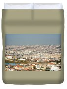 Above Lisbon Portugal Duvet Cover